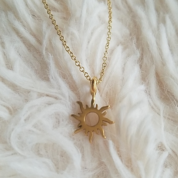 81f28f5ec5365f Dogeared Jewelry | Good Vibes Only Sun Necklace | Poshmark